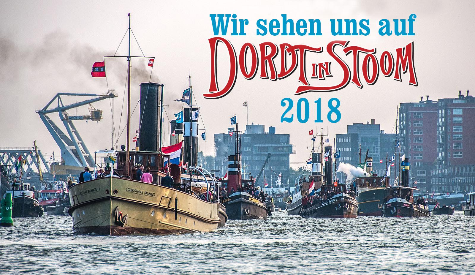 wir sehen uns auf Dordt in Stoom 2018